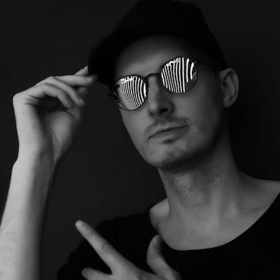 Very cool DJ Plastic aka Andris Ratnieks portrait photo